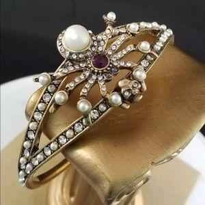Jewelry - NOT SIGNED SPIDER & SKULL BRACELET NWOT